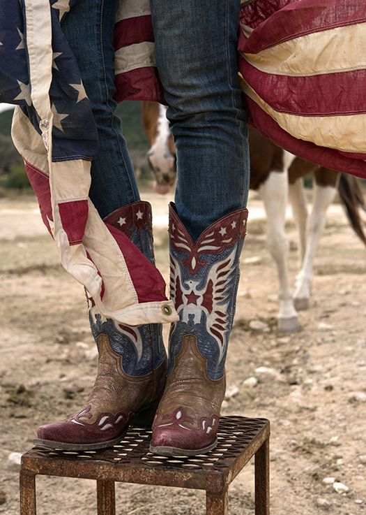 I know I already have red, white, and blue, but CUTE boots!