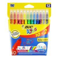 Flamastry Bic 12 kolorów
