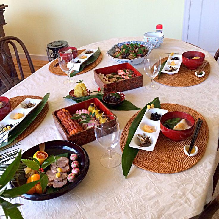 おせち♥︎2014 テーブルコーディネート 盛り付け お正月