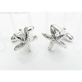 Hallmarked Silver Starfish Cufflinks