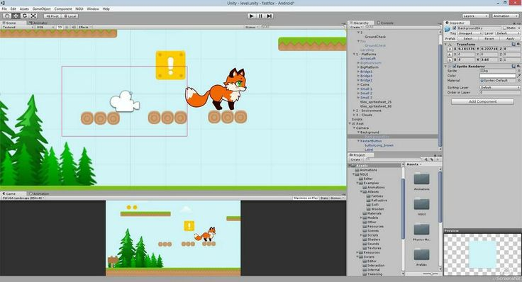 Prototype of the first level of Fast Fox game