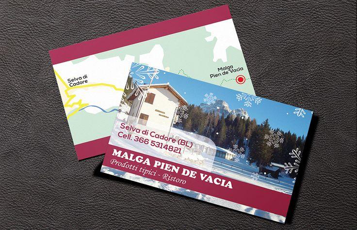 Biglietti da Visita - Malga Pien de Vacia | #businesscard #design #malga - #pixeldesign
