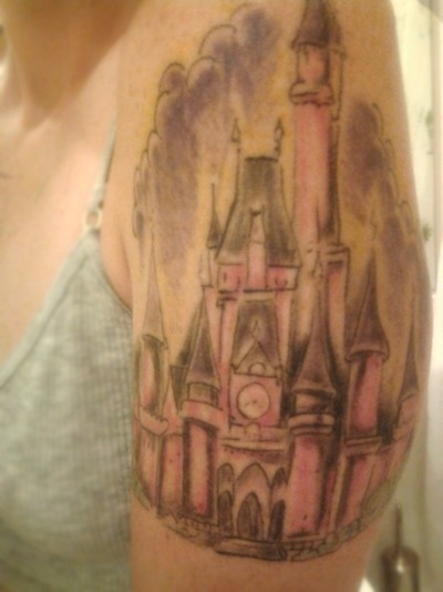 disney castle tattoo: Cinderella Castle