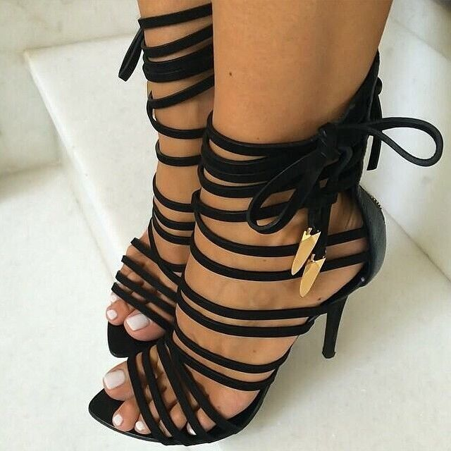 0ec118d53028 Oh my Strappy Goddess. Find this Pin and more on Lovely Shoes ...