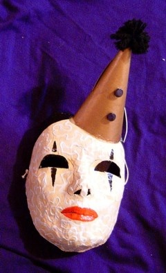 Perot Clown papier mache mask