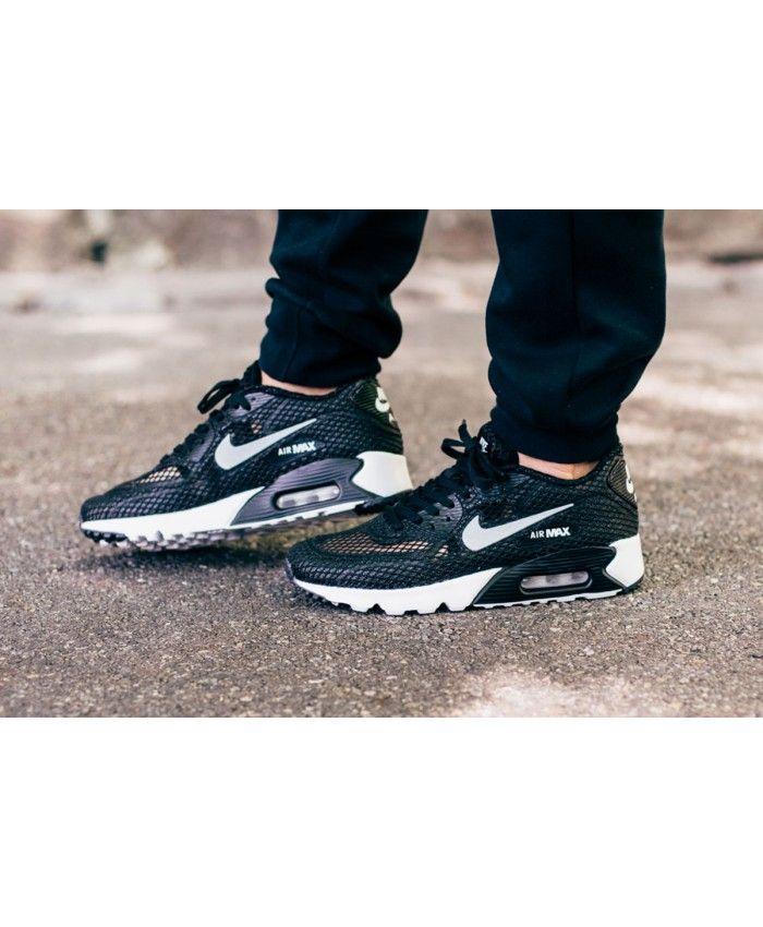 Cheap UK Nike Air Max 90 Ultra Breathe Plus Qs Black Mens & Womens Trainers/Sneakers Sale Online