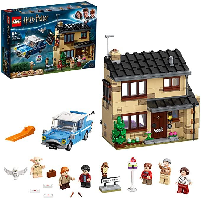Lego 75968 Harry Potter 4 Privet Drive House Set With Ford Anglia Dobby Figure And Dursley Family Amazon Co Uk Rollenspellen Lego Harry Potter Vliegende Auto