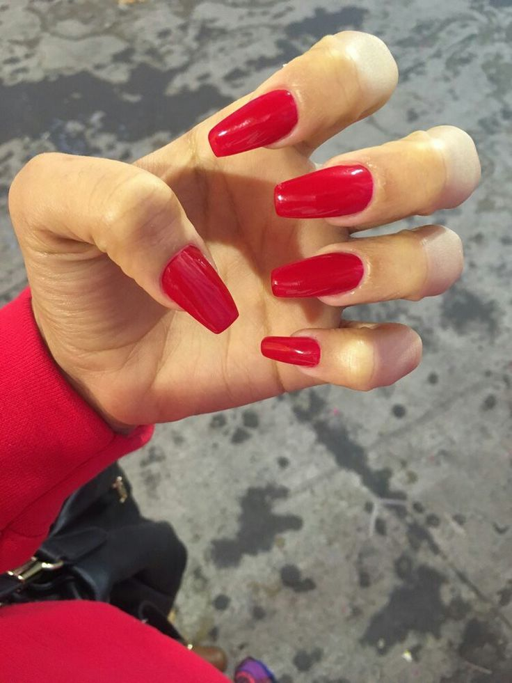 1000+ Ideas About Long Red Nails On Pinterest