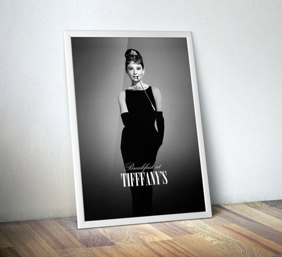 Audrey Hepburn, Breakfast at Tiffanys Movie Poster Art Print.  Remember the first time you watched Breakfast at Tiffanys? This limited poster