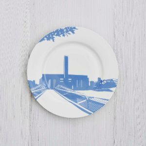 Tate Modern Side Plate: This side plate features a blue design of the Tate Modern, part of the River Series collection.
