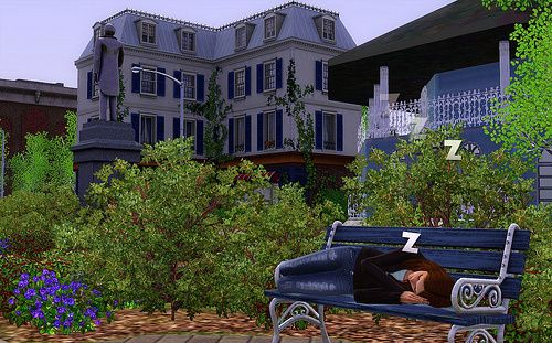 Alice and Kev   The story of being homeless in The Sims 3
