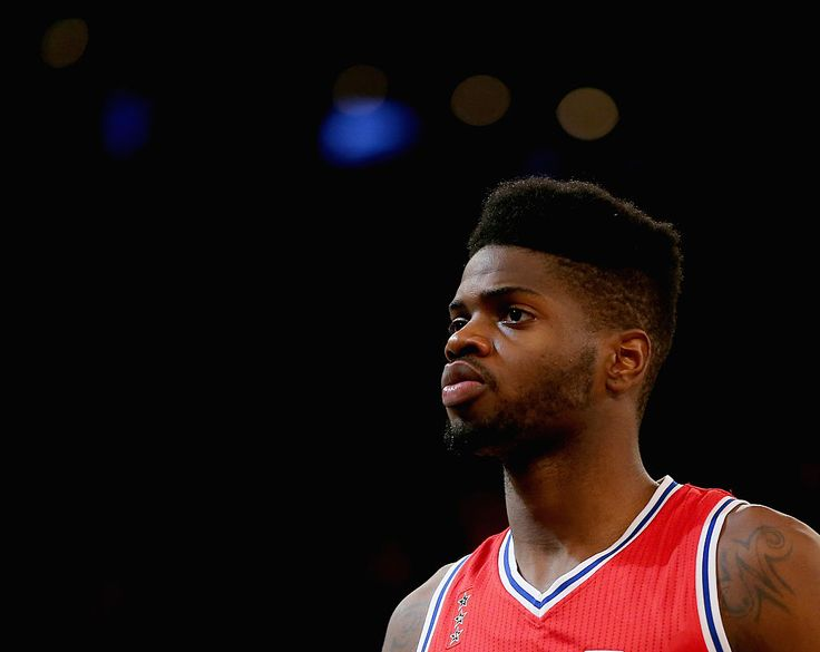 NEW YORK, NY - DECEMBER 02: Nerlens Noel #4 of the Philadelphia 76ers looks on during a time out in the second half against the New York Knicks at Madison Square Garden on December 2, 2015 in New York City.