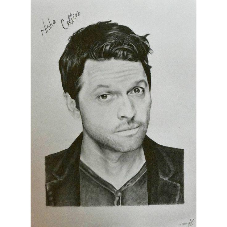 "46 aprecieri, 3 comentarii - @alisaurusart pe Instagram: ""@misha #supernatural #spn #cw #cwsupernatural #actor #castiel #tvseries #tv #art #art #artwork…"""