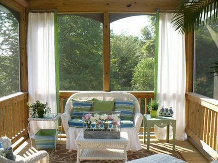 Perfect Porch Decorating Ideas: Screened Porch Decorating Ideas Open Sunroom .
