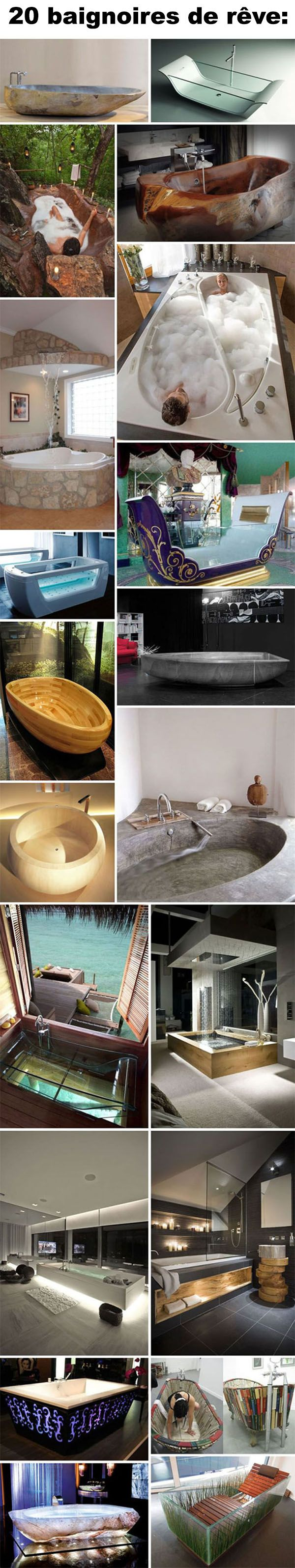 20 baignoires de rêve