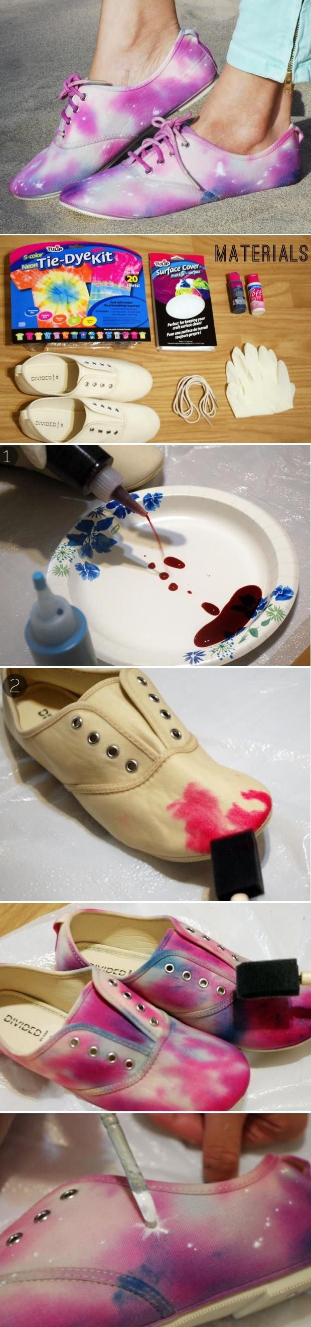 DIY : Tie Dye Galaxy Shoes