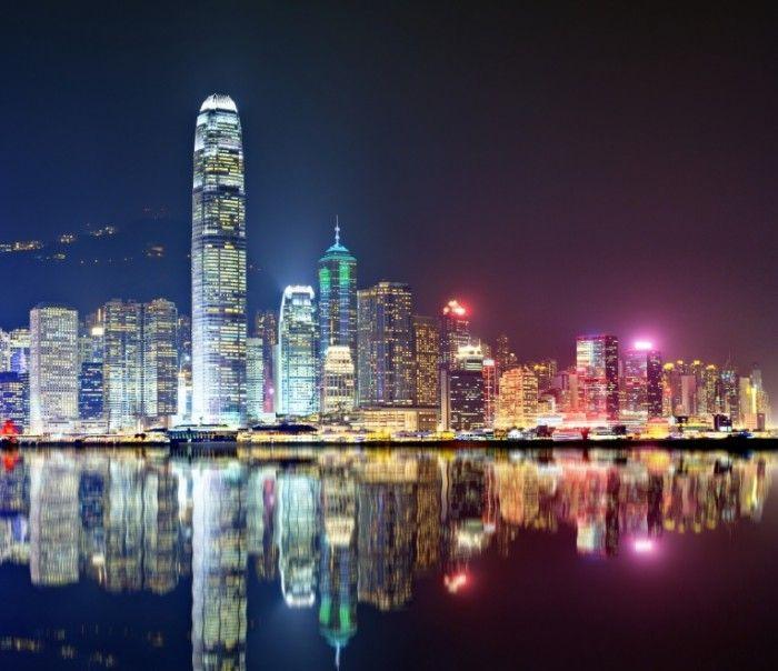 Ночной Гонконг   Night Hong Kong