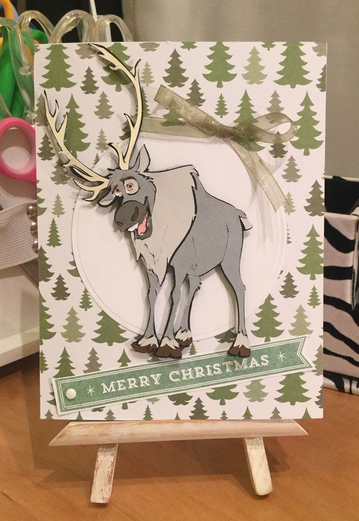 Christmas Card / Made with Cricut Disney Frozen Cartridge / Handcrafted By Cindy Babich (Cindyswishestogive 2015)
