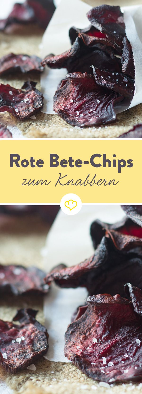 Diese super knusprigen Chips werden aus frischer Roter Bete hergestellt und sind von Natur aus fettarm. Eine gesunde Fernsehknabberei am Abend.