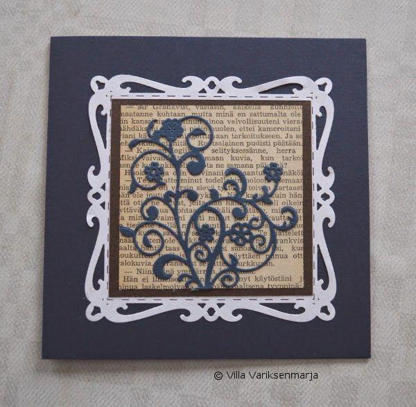 Hand made card - käsintehty kortti http://villavariksenmarja.blogspot.fi/2015/01/kortteja-itsensa-haastaen.html