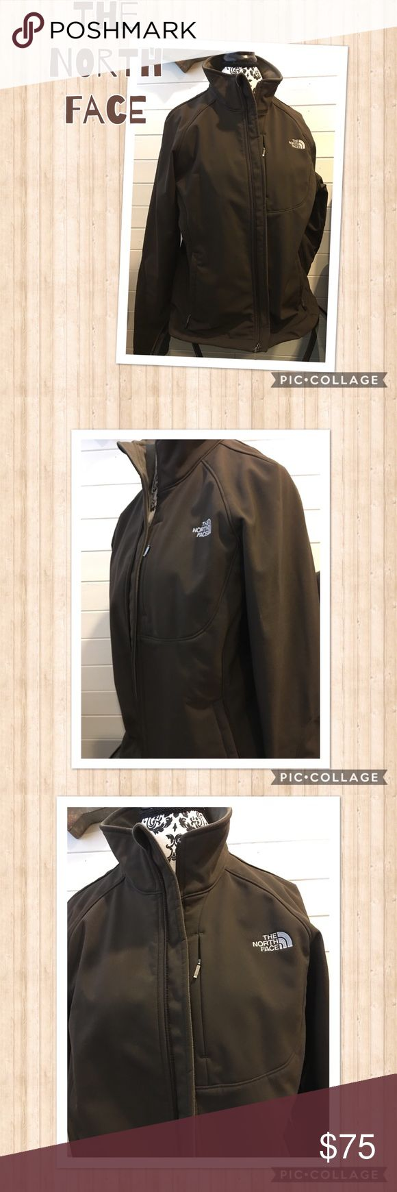 The North Face Apex Bionic 2 Jacket Gently used a few times! Looks like brand new! Windproof stretch soft-shell jacket for cool-weather activities Active fit Center zip Invisible-zip chest pocket Curved cuff with inner stretch cuff for added comfort and protection Hem cinch-cord Raised logos Pet and smoke free home North Face Jackets & Coats
