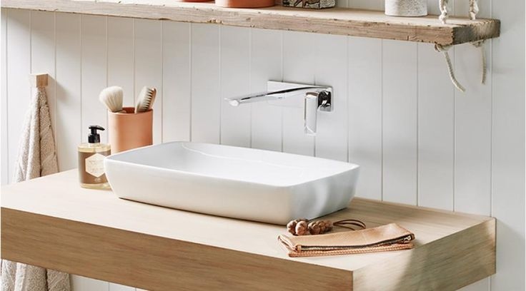 Pair the Milli Glance wall mixer set and the Axa H10 Above Counter Basin to achieve a Boho style for your bathroom.