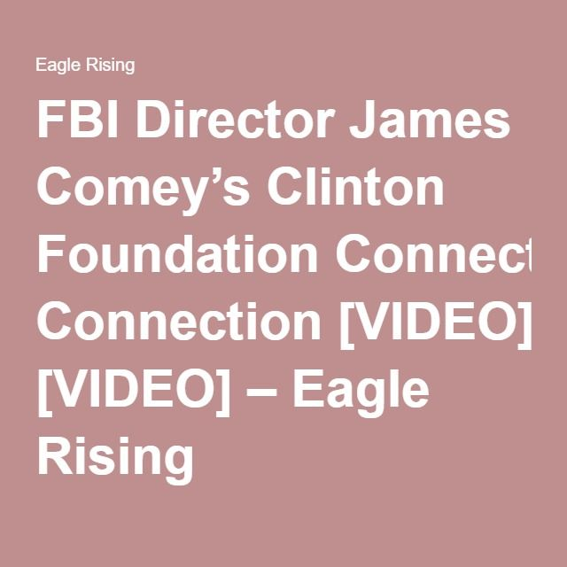 is comey on the board of the clinton foundation