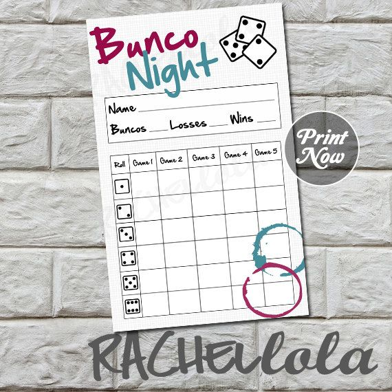 The  Best Bunco Score Sheets Ideas On   Bunco Party