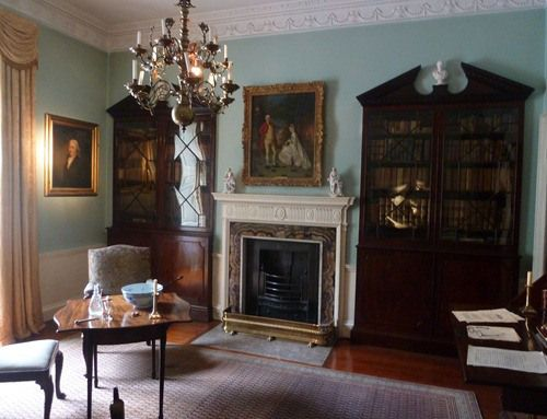 The study in the Georgian House in Bristol