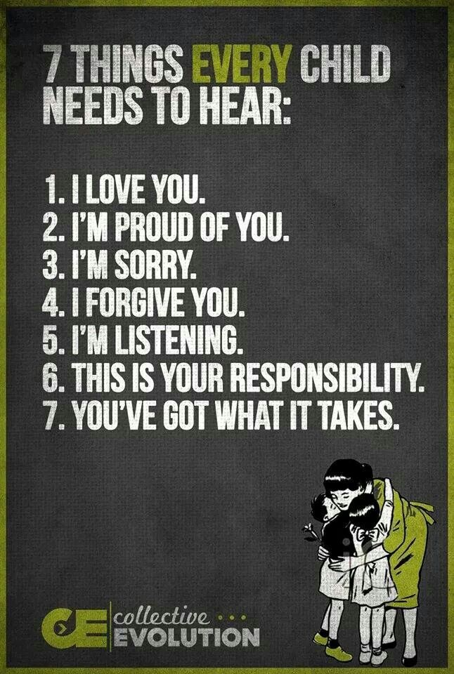 Things every child needs to hear