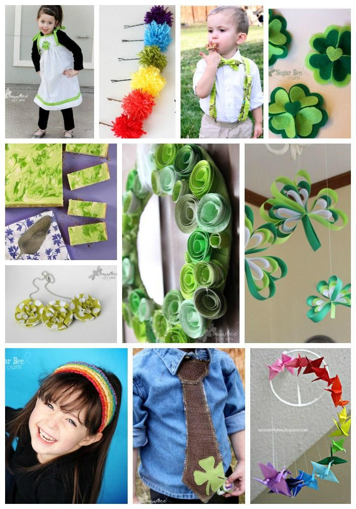 over 10 fun craft ideas for st. patty's day - - love all of these!   St. Patrick's Day Round Up ~ Sugar Bee Crafts
