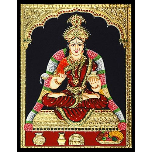 Tanjore Painting - Goddess Annapoorne
