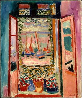 Henri Matisse, Open Window, Collioure, oil on canvas -The Palette of the Wild Beasts: Henri Matisse & André Derain   Paint Watercolor Create