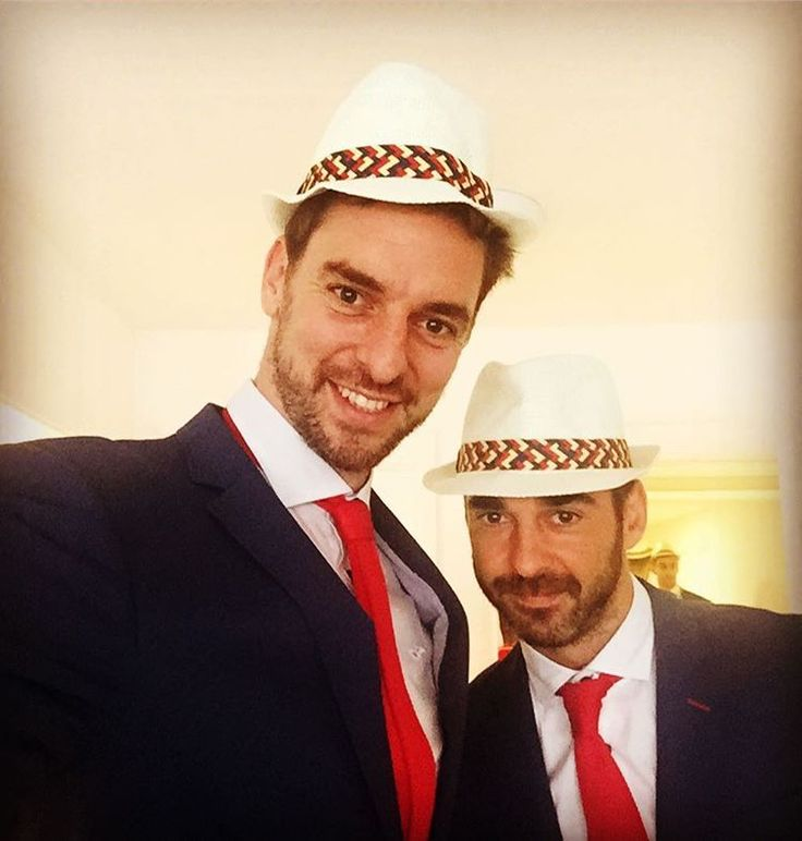 Rio Opening Ceremony: Behind the scenes with the Olympians - Pau Gasol | Spain | Basketball Opening ceremony day here in #Rio! Here with my best friend and teammate who's participating in his 5th #olympicgames! #LegendNavarro Instagram/paugasol