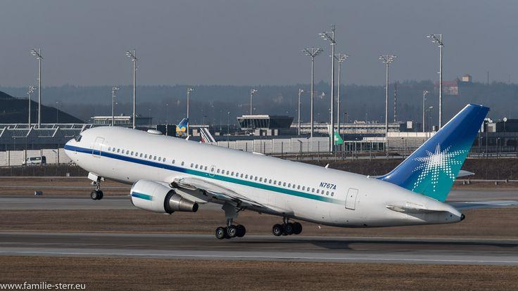 Boeing 767 N767A beim Start am Flughafen München