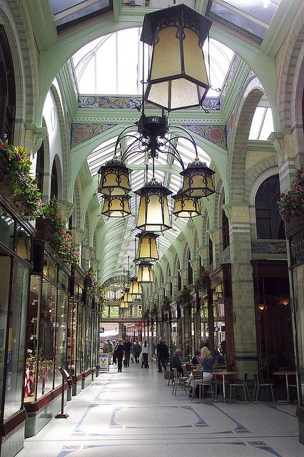 The Royal Arcade in Norwich.A beautiful Arcade. Read about it's wonderful history here.. http://www.oldcity.org.uk/norwich/tours/arcade/