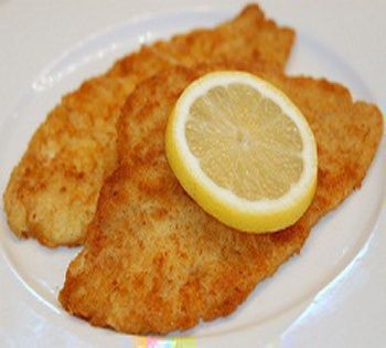 Baked Lemon Sole With Sole Fillet, Fresh Parsley, Margarine, Pepper, Lemon Juice, Paprika, All-purpose Flour