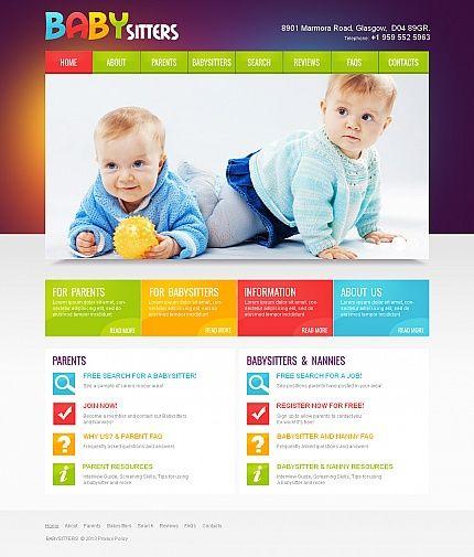 Baby Babysitter Moto CMS HTML Templates by Mercury