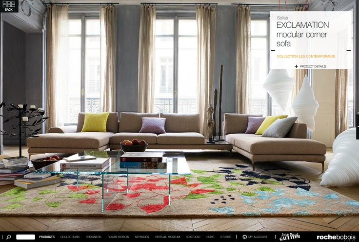 17 best images about roche bobois on pinterest pillow. Black Bedroom Furniture Sets. Home Design Ideas