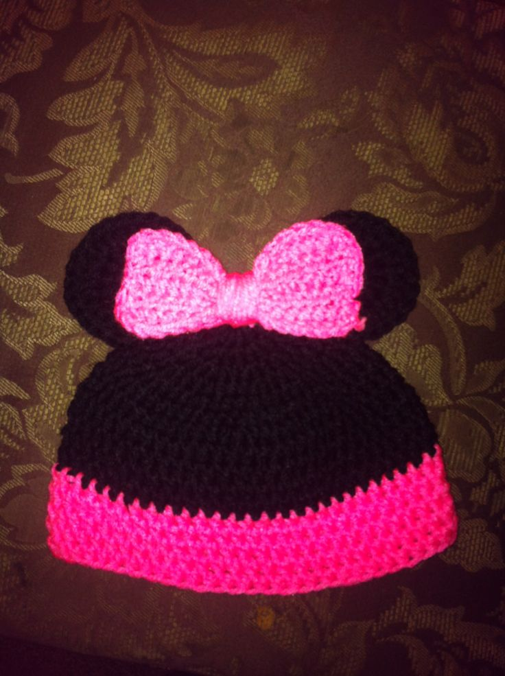 Minne Mouse hat Pattern from Repeat Crafter Me