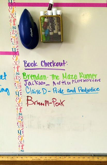 How we check out books from my classroom library. Teach. Inspire. Change.