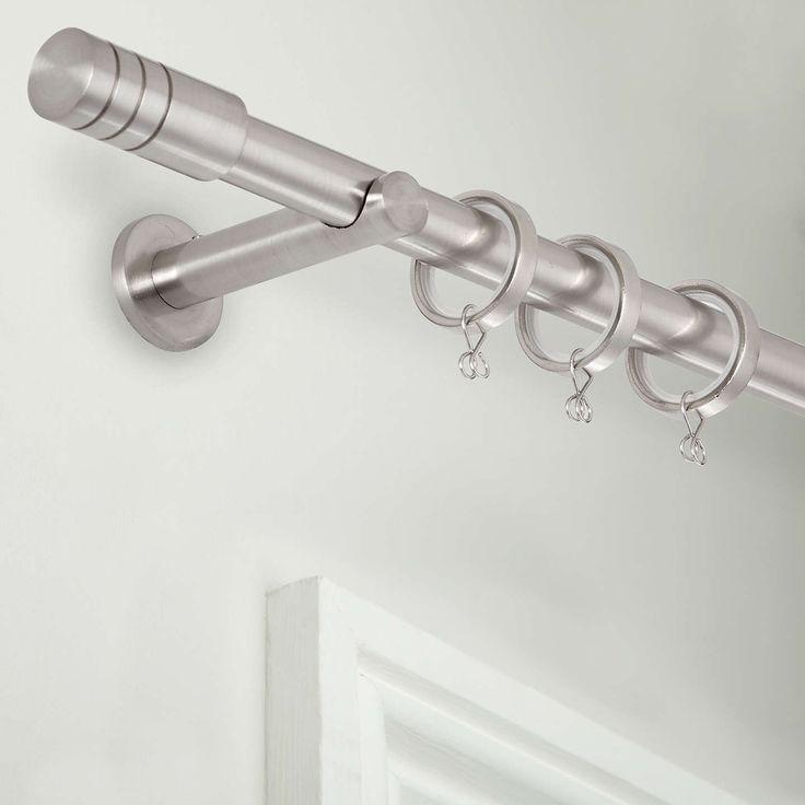 BuyHouse by John Lewis Steel Barrel Curtain Pole Kit, Dia.19mm x L150cm Online at johnlewis.com