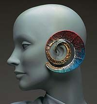 """Marjorie Schick """"Spiral Earring for Spira Galaxy"""" I was lucky enough to take classes from this wonderfully talented woman."""