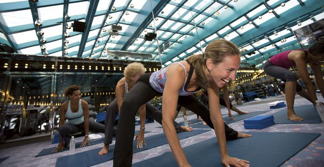 Carnival Fantasy - you have to take a Yoga, Pilates and/or Spinning class with me! Think it's $12 per class