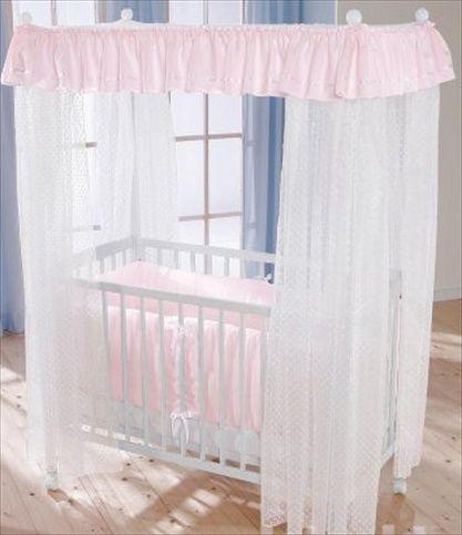LEIPOLD Himmelseng med madrass og rosa sengetøy. Frifrakt Kr 4999