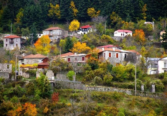 Village on mount Pindos