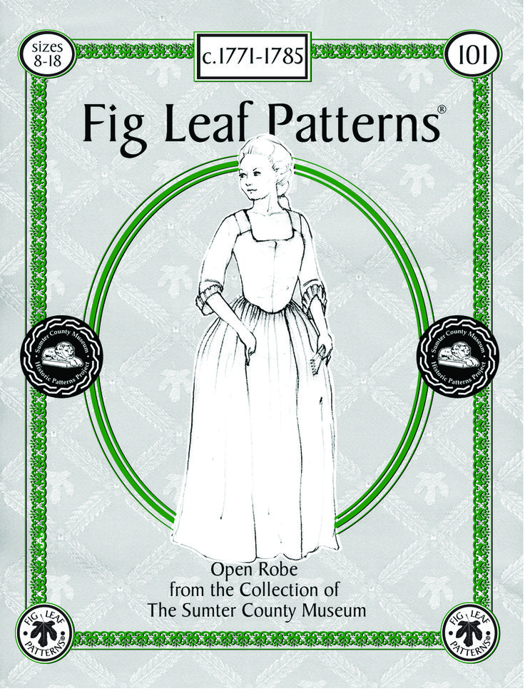 Pattern cover.  Pattern available in sizes 8-18 or 18-28 from http://figleafpatterns.fatcow.com/gallery.html