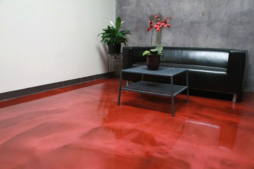 Metallic coatings allow decorative concrete contractors to create a high-shine three-dimensional floor.