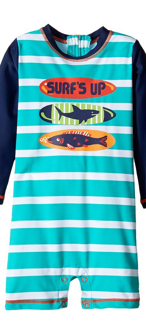 Hatley Kids Surfboards Rashguard (Infant) (Blue) Boy's Swimwear - Hatley Kids, Surfboards Rashguard (Infant), BS6SURF475-400, Apparel Top Swimwear, Swimwear, Top, Apparel, Clothes Clothing, Gift, - Fashion Ideas To Inspire