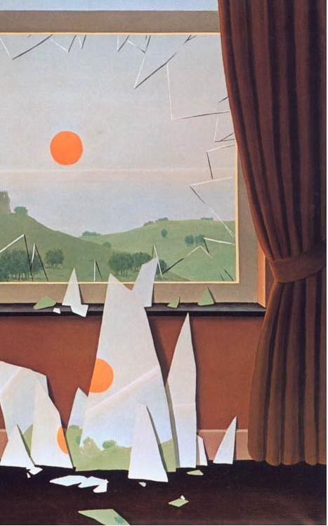 ルネ・マグリット 「日は暮れるⅡ」 Rene' Magritte: Le Soir qui tombe Ⅱ, 1964 部分